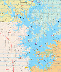 lake norman fishing map Piedmont Lakes Pilot Pilot Media lake norman fishing map